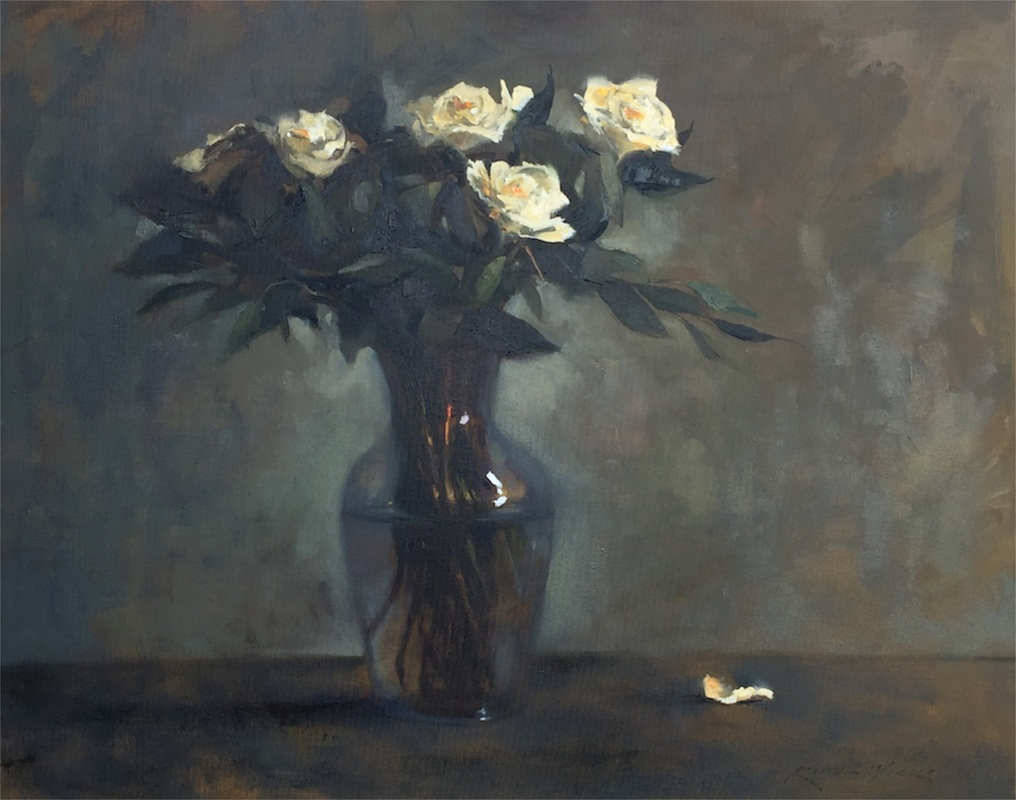 White Rose Still Life by Keith Wicks
