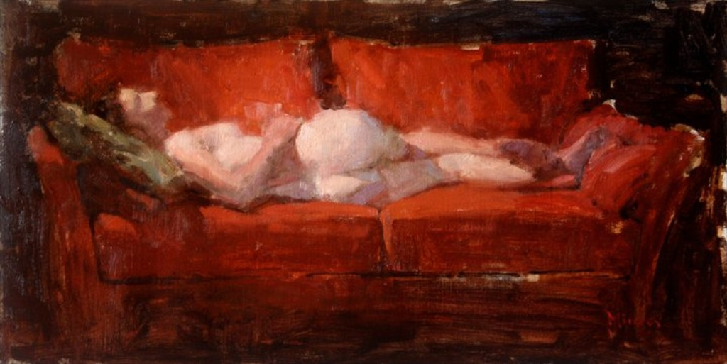 Red Sofa by Terry Miura