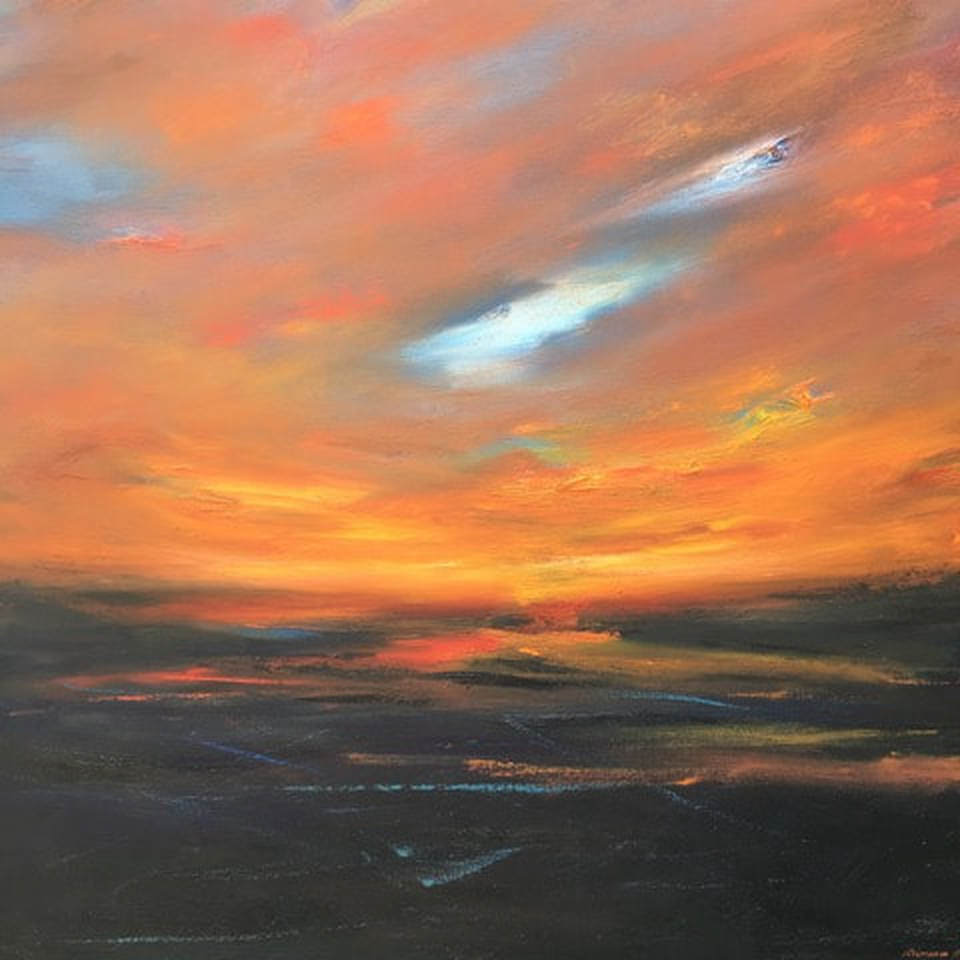 Sun Setting by Richard Reiner - oil on canvas - at Sekula's Fine Art