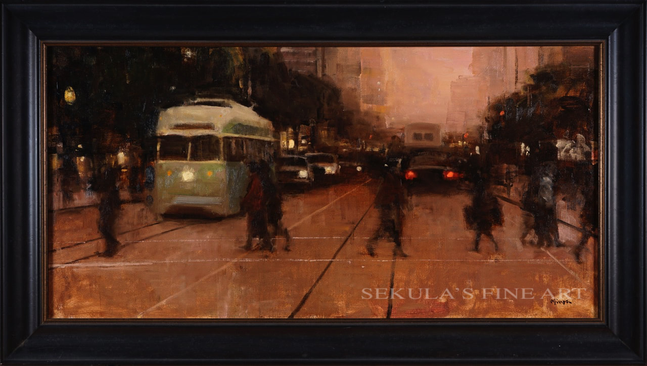 Dusk on Market by Terry Miura at Sekula's Fine Art Gallery