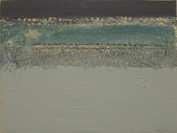 Untitled 112014, 18x24, mixed media on panel, by Nancy Crandall Phillips