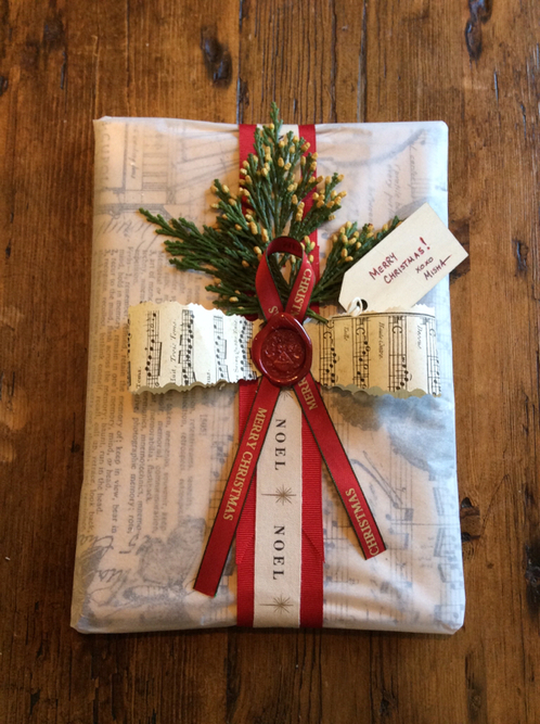 Beautiful Gift Wrapping from Sekula's Antique Store in Sacramento