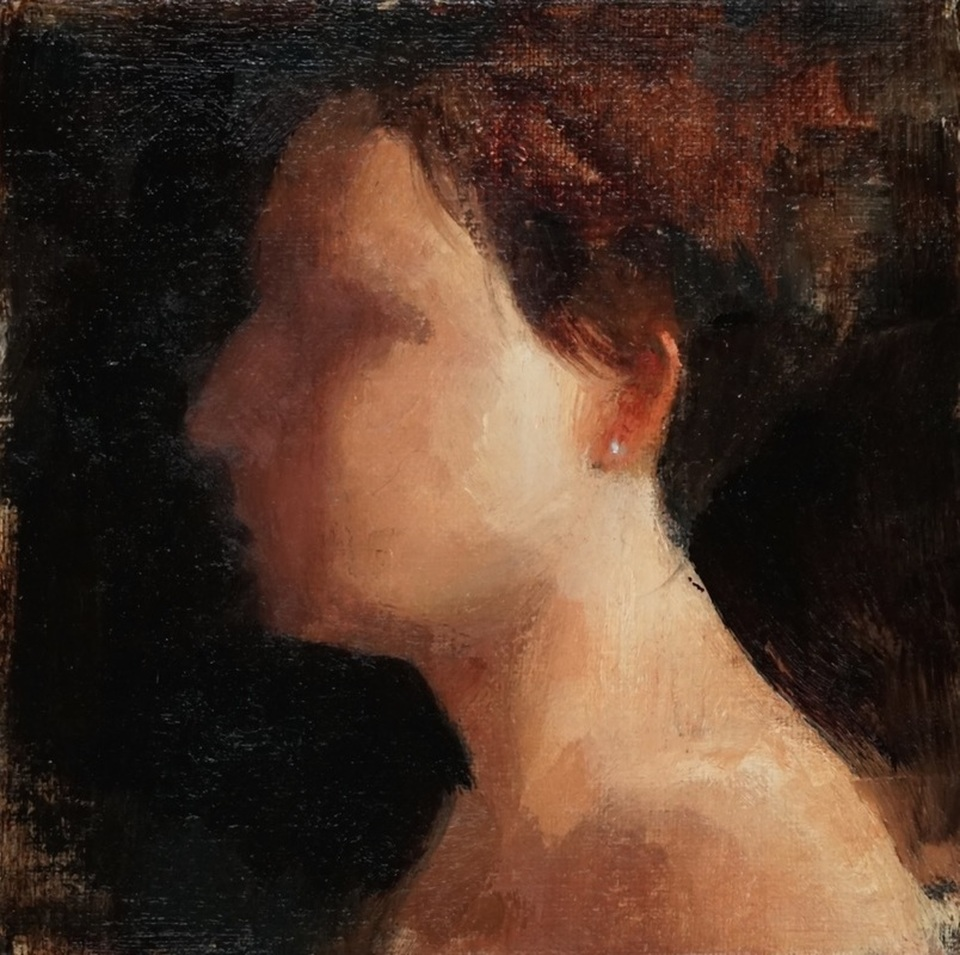 Terry Miura Secrets, 6 x 6, oil on linen