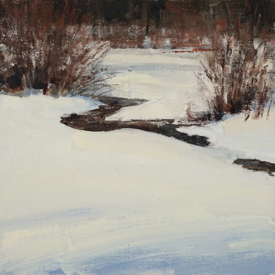 Dark Creek, 12 x 12, oil on linen, Terry Miura