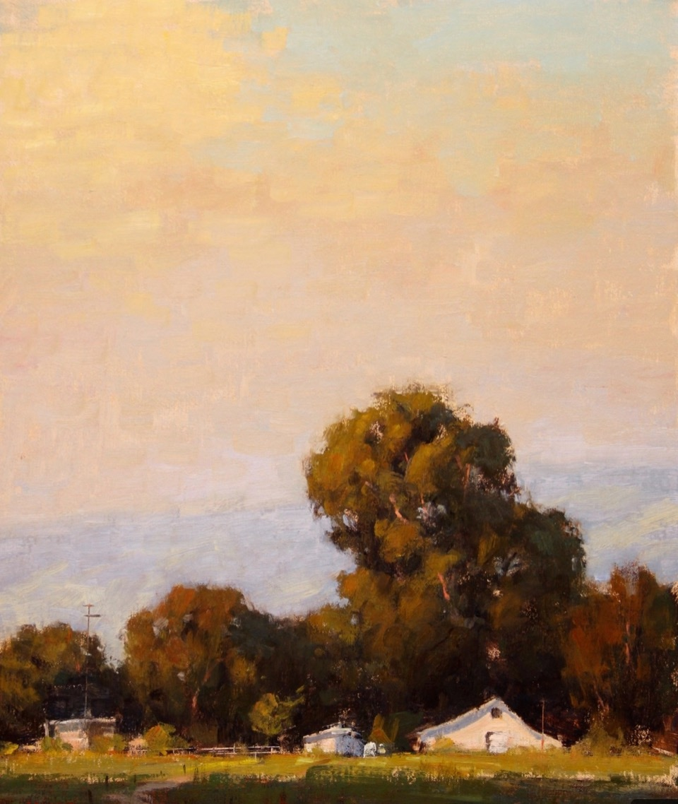 Evening Harmonies, 20 x 16 inches, oil on linen, Terry Miura