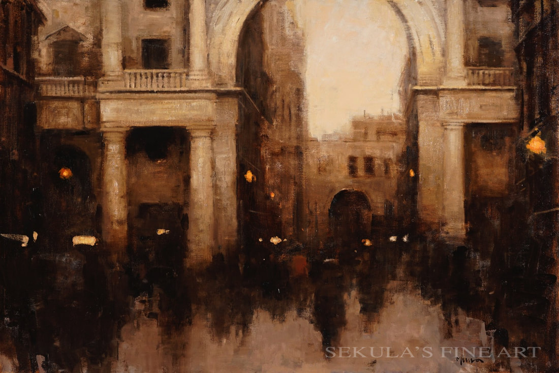 Evening Stroll, Firenze by Terry Miura at Sekula's Fine Art Gallery
