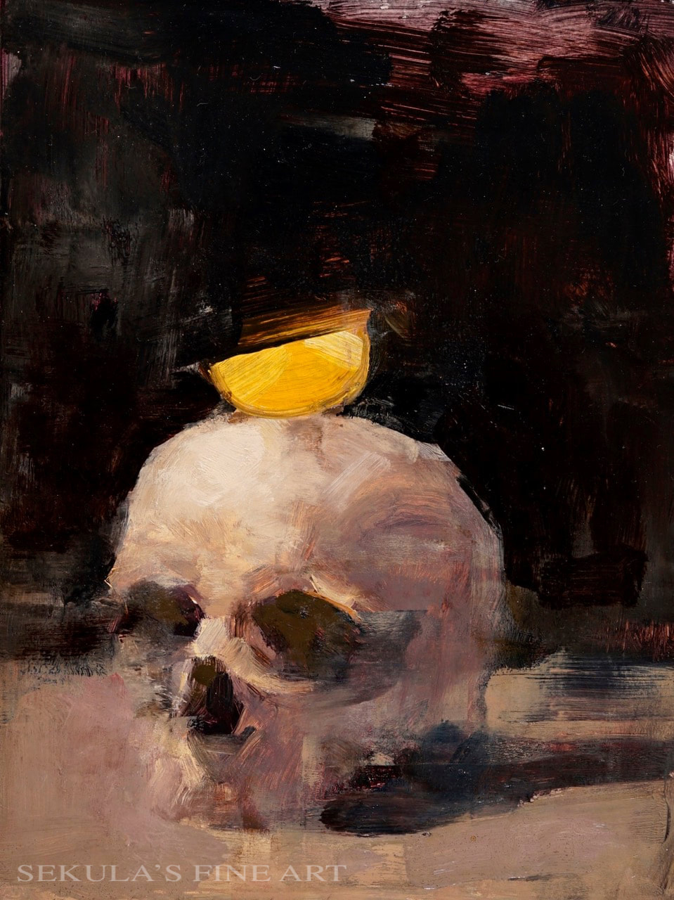 Lemonhead, 12 x 9, oil on panel by Terry Miura