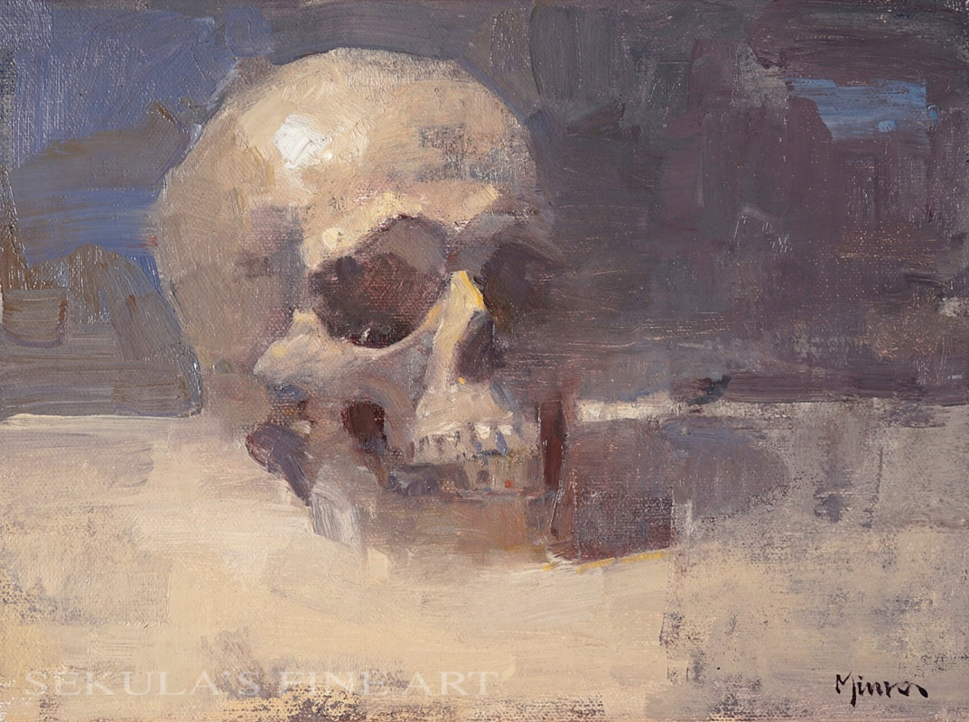 Numskull 9 x 12 oil on panel by Terry Miura