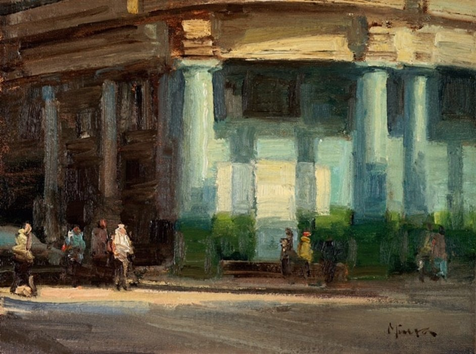 Havana Corner, 9 x 12, oil on linen, Terry Miura
