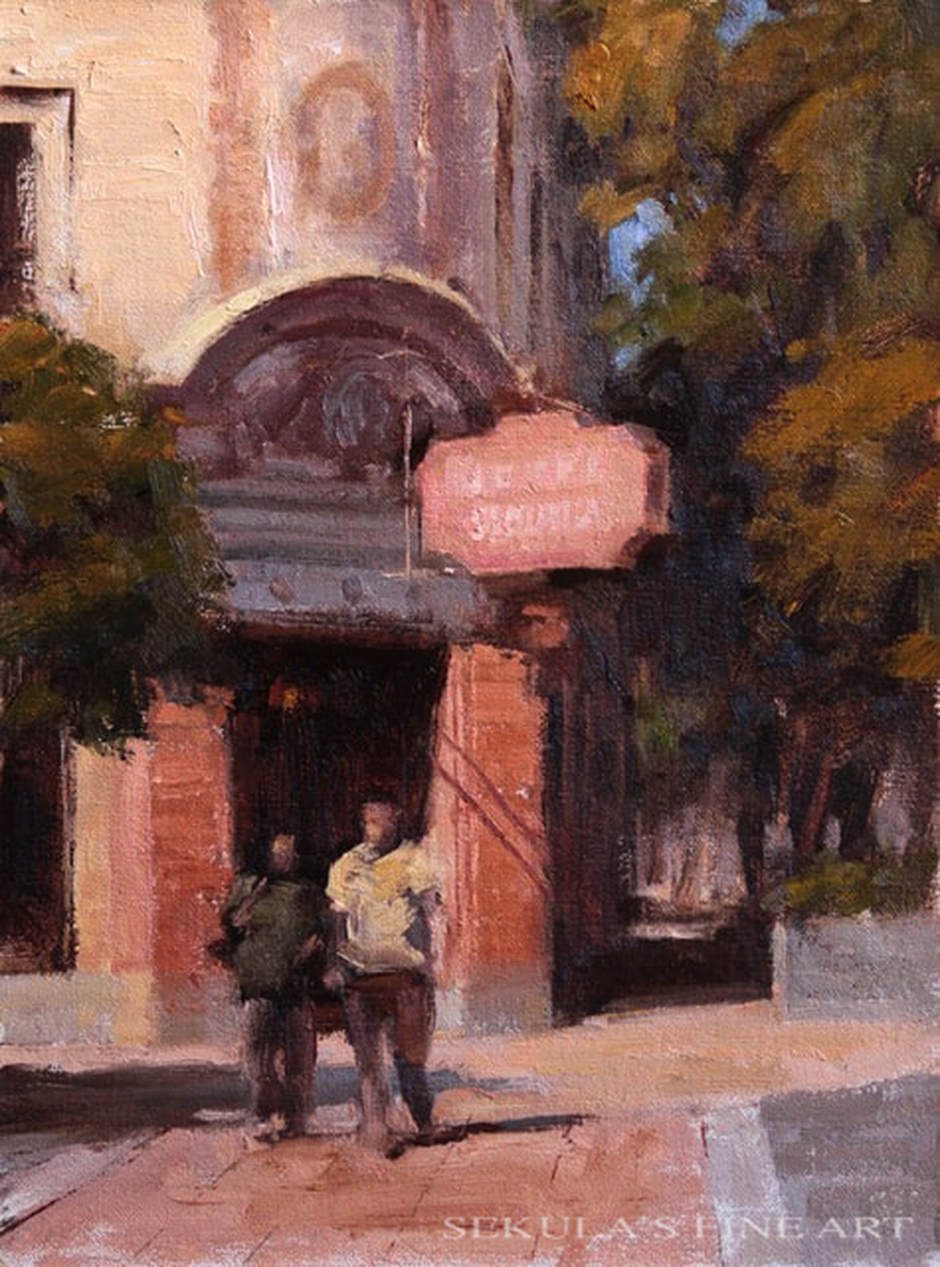 Hotel Sequoia, 12 x 9, oil on linen