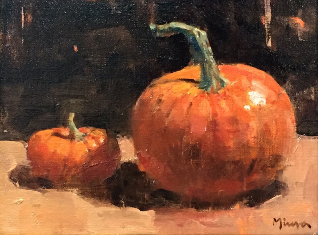 Side by Side, 9 x 12, oil on panel by Terry Miura